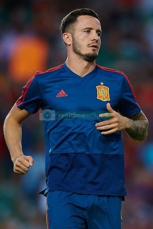 September 11, 2018 - Elche, Alicante, Spain - Saul of Spain before the match during the UEFA Nations League football match between Spain and Croatia at Martinez Valero Stadium in Elche on September 11, 2018  (Credit Image: © Sergio Lopez/NurPhoto/ZUMA Press)