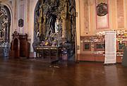 Interior view of the Basilica de la Merced, Santiago, Chile.