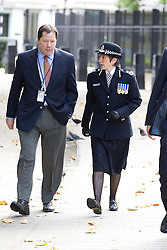© Licensed to London News Pictures. 11/09/2011. London, UK. Assistant Commissioner of the Metropolitan Police, Cressida Dick, outside the US Embassy in Grosvenor Square during the commemoration for those who died in the September 11th 2001 terrorist attacks. Photo credit : Joel Goodman/LNP