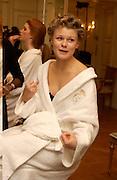 Anastasia Tolstoy, Getting ready before the  Thirteenth Annual Crillon Haute Couture Ball. Paris,  29 November 2003. © Copyright Photograph by Dafydd Jones 66 Stockwell Park Rd. London SW9 0DA Tel 020 7733 0108 www.dafjones.com