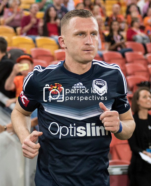 BRISBANE, AUSTRALIA - OCTOBER 7: Besart Berisha of the Victory walks out during the round 1 Hyundai A-League match between the Brisbane Roar and Melbourne Victory at Suncorp Stadium on October 7, 2016 in Brisbane, Australia. (Photo by Patrick Kearney/Brisbane Roar)