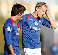 Fotball , La Manga 16 Mars 2008<br /> Vålerenga  v Moss   4-2<br /> <br /> Foto:Dagfinn Limoseth  -  Digitalsport<br /> <br /> Rune Lange og Lars Iver Strand , Vålerenga
