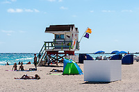 US, Florida, Miami Beach. The famous beach.
