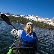 The Eastern Sierra's towns of Mammoth Lakes, June Lakes and surrounding areas weathered a historical and record producing winter snowfall that carried over into the summer. Lakes were filled to capacity and kayakers, fishermen and float tubers enjoyed the view from the water of Lake Mary.