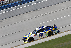April 27, 2018 - Talladega, Alabama, United States of America - Chase Elliott (9) takes to the track to practice for the GEICO 500 at Talladega Superspeedway in Talladega, Alabama. (Credit Image: © Justin R. Noe Asp Inc/ASP via ZUMA Wire)