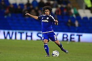 Fabio Da Silva of Cardiff city in action. Skybet football league championship match, Cardiff city v Leeds Utd at the Cardiff city stadium in Cardiff, South Wales on Tuesday 8th March 2016.<br /> pic by Andrew Orchard, Andrew Orchard sports photography.