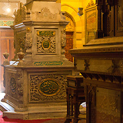 Tombs inside Khedive Tawfik Mausoleum. Qarafa, Cairo.