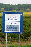 Chateau de Raissac, wine shop open Monday to Saturday. Languedoc. France. Europe.