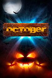 A Seasonal Spooky October Composition For Halloween