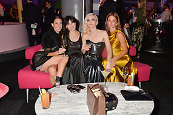 Left to right, LAURA JACKSON, DAISY LOWE, PORTIA FREEMAN and MILLIE MACKINTOSH at The Naked Heart Foundation's Fabulous Fund Fair hosted by Natalia Vodianova and Karlie Kloss at Old Billingsgate Market, 1 Old Billingsgate Walk, London on 20th February 2016.