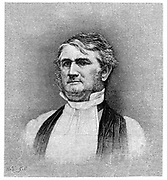 Leonidas Polk (1806-1864) American cleric and soldier. Bishop of Arkansas 1838, of Louisiana from 1841. Commanded corps of confederate troops during American Civil War 1861-1865. Engraving.