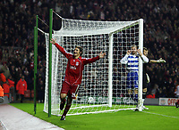 Fotball<br /> England <br /> League Cup 3rd round<br /> Liverpool v Reading<br /> Foto: Propaganda/Digitalsport<br /> NORWAY ONLY<br /> <br /> LIVERPOOL, ENGLAND - WEDNESDAY, OCTOBER 25th, 2006: Liverpool's Gabriel Paletta celebrates scoring the third goal against Reading during the League Cup 3rd Round match at Anfield