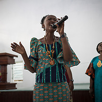 Singers during a Sunday chapel service at the Heal Africa hospital in Goma, Congo.