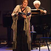 "Lucy Shelton and Reinbert de Leeuw perform Reinbert de Leeuw's Im wunderschönen Monat Mai (""In the Merry Month of May""), a cycle of 21 songs on Schumann and Schubert at the 66th Ojai Music Festival on June 8, 2012 in Ojai, California."