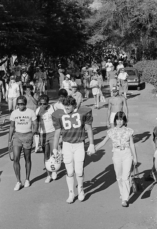 COLLEGE FOOTBALL:  Stanford vs San Jose State on October 4, 1980 at Stanford Stadium in Palo Alto, California.  Steve Aimonetti #63.  Photograph by David Madison ( www.davidmadison.com ).