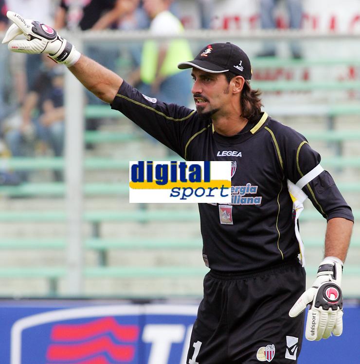 Firenze 01/10/2006<br /> Campionato Italiano Serie A 2006/07<br /> Fiorentina-Catania 3-0<br /> Pantanelli Armando Catania<br /> Foto Luca Pagliaricci Inside<br /> www.insidefoto.com