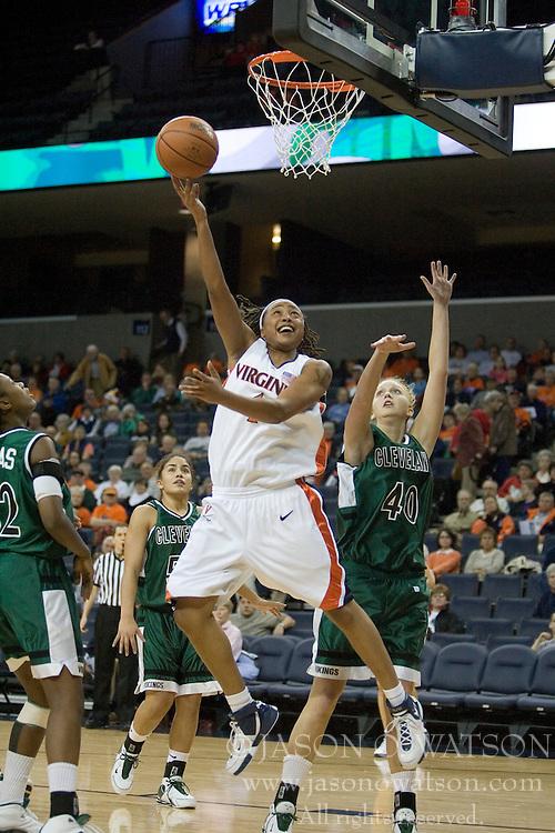 Virginia Cavaliers Forward Lyndra Littles (1)..The Virginia Cavaliers Women's Basketball team defeated Cleveland State University 100-60 at the John Paul Jones Arena in Charlottesville, VA on December 16, 2006...