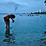 At the weekend the locals from Cienfuegos fill the small beaches inside the city's bay