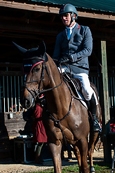 March 22, 2019 - Raeford, North Carolina, US - March 22, 2019 - Raeford, N.C., USA - DOUG PAYNE of the United States and STAR WITNESS head out for the CCI3-S show jumping division at the sixth annual Cloud 11-Gavilan North LLC Carolina International CCI and Horse Trial, at Carolina Horse Park. The Carolina International CCI and Horse Trial is one of North AmericaÃ•s premier eventing competitions for national and international eventing combinations, hosting International competition at the CCI2*-S through CCI4*-S levels and National levels of Training through Advanced. (Credit Image: © Timothy L. Hale/ZUMA Wire)