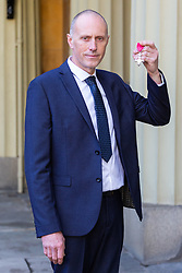 ROTA:  Michael Nield proudly displays his MBE for services to Mountain Rescue and to the community in Greater Manchester awarded at an investiture at Buckingham Palace in London. London, November 13 2018.