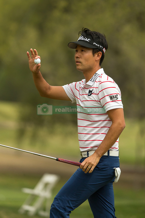 March 23, 2018 - Austin, TX, U.S. - AUSTIN, TX - MARCH 23:  Kevin Na waves to the crowd after sinking a birdie putt during the WGC-Dell Technologies Match Play Tournament on March 22, 2018, at the Austin Country Club in Austin, TX.  (Photo by David Buono/Icon Sportswire) (Credit Image: © David Buono/Icon SMI via ZUMA Press)