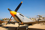 Israel, Hazirim, near Beer Sheva, Israeli Air Force museum. The national centre for Israel's aviation heritage. Supermarine spitfire MK. IX These planes were in service in the IAF until 1954 when they were sold to Burma