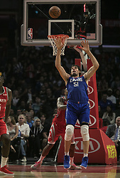 October 21, 2018 - Los Angeles, California, U.S - Boban Marjanovic #51 of the Los Angeles Clippers blocks a pass during their NBA game with the Houston Rockets on Sunday October 21, 2018 at the Staples Center in Los Angeles, California. (Credit Image: © Prensa Internacional via ZUMA Wire)