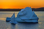 Iceberg in Bonavista Bay at sunset<br />Eastport<br />Newfoundland & Labrador<br />Canada