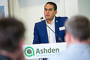 Ernesto Infante Barbosa of EcoCasa speaking at the 2015 Ashden International Conference. The Business of Energy: Enterprising Solutions to the Energy Access Challenge. Kings Cross, London, UK. All image use must be credited. © Andrew Aitchison / Ashden