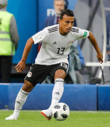 June 19, 2018 - Saint Petersburg, Russia - Mohamed Abdelshafy of Egypt national team during the 2018 FIFA World Cup Russia group A match between Russia and Egypt on June 19, 2018 at Saint Petersburg Stadium in Saint Petersburg, Russia. (Credit Image: © Mike Kireev/NurPhoto via ZUMA Press)