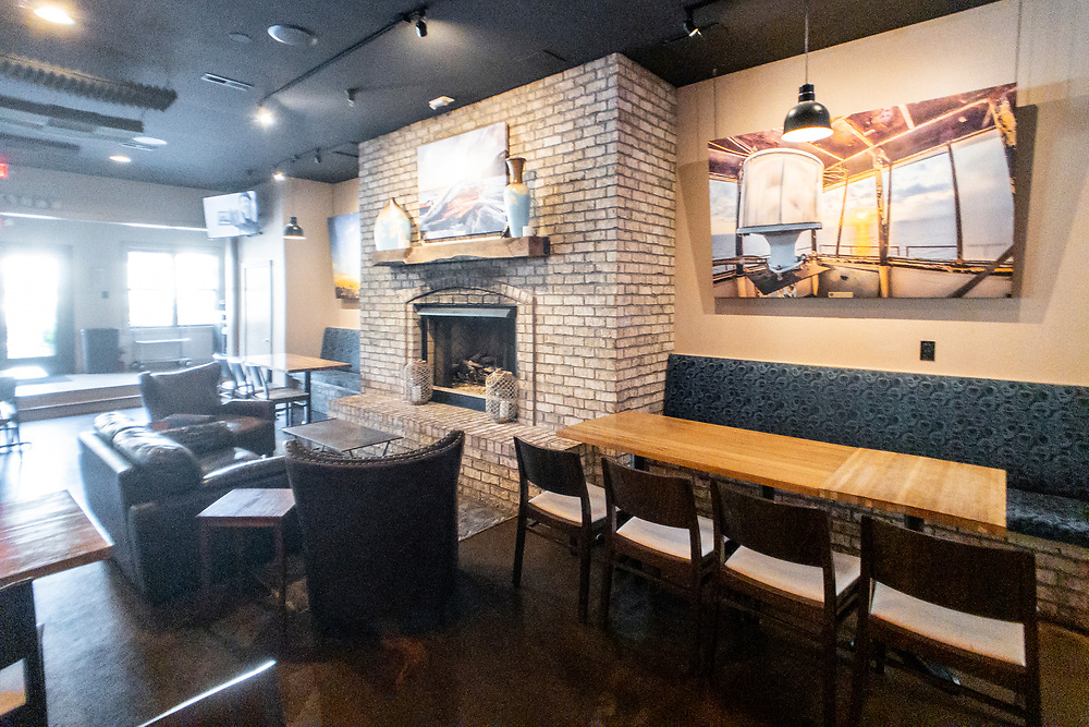 Indoor seating at Waterman's Brewing in Wilmington, North Carolina on Tuesday, August 10, 2021. Copyright 2021 Jason Barnette