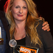 NLD/Amsterdam/20140205 - Uitreiking 100% NL Awards 2013, Miss Montreal met haar award