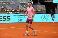 Grigor Dimitrov of Bulgaria during the Mutua Madrid Open 2021, Masters 1000 tennis tournament on May 3, 2021 at La Caja Magica in Madrid, Spain - Photo Laurent Lairys / ProSportsImages / DPPI