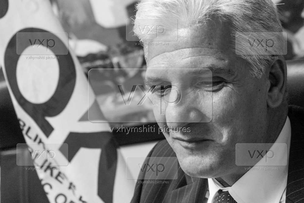 Hashim Rexhepi, Kosovo's central bank governor photographed in his office on October 9, 2009. (Photo/ Vudi Xhymshiti)