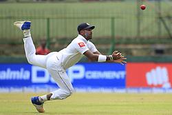 August 12, 2017 - Colombo, Sri Lanka - Sri Lankan cricketer Lahiru Kumara drops a catch during the 1st Day's play in the 2nd Test match between Sri Lanka and India at the Pallekele International cricket stadium, Kandy, Sri Lanka on Saturday 12 August 2017. (Credit Image: © Tharaka Basnayaka/NurPhoto via ZUMA Press)
