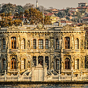 An ornate, historic building on the Asian bank of the Bosphorus Strait in Istanbul, Turkey