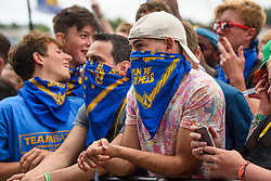 Fans watch Run the Jewels performing during the Glastonbury Festival at Worthy Farm in Pilton, Somerset. Picture date: Friday June 23rd, 2017. Photo credit should read: Matt Crossick/ EMPICS Entertainment.