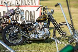 BF8 Invited builder Tim Vander's Vander Built custom 1961 Harley-Davidson Panhead at the Born Free Motorcycle Show-8 at the Oak Canyon Ranch. Silverado, CA, USA. Saturday June 25, 2016.  Photography ©2016 Michael Lichter.