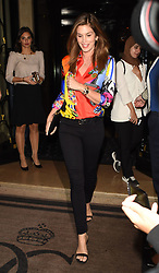 Cindy Crawford and her daughter Kaia Jordan Gerber are seen leaving the Four Seasons hotel to go to dinner in Paris<br />