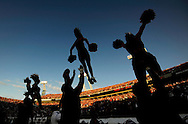 JACKSONVILLE, FL - NOVEMBER 01: Members of the Florida Gators cheerleading squad performs during a game against the Georgia Bulldogs at Jacksonville Municipal Stadium on November 1, 2008 in Jacksonville, Florida. Florida defeated Georgia 49-10.(Photo by Rob Tringali/Sportschrome/ Images) *** Local Caption ***