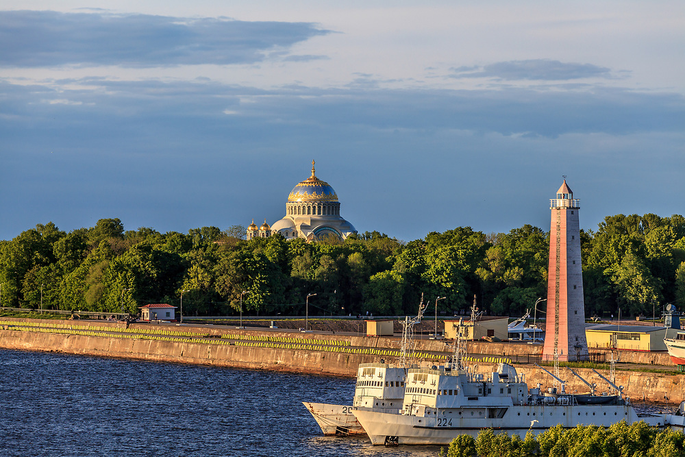 The Naval cathedral of Saint Nicholas in Kronstadt at the island Kotlin near the Saint Petersburg, Russia. The Naval cathedral of Saint Nicholas, built in 1903–1913, was the main temple of Russia's Baltic Fleet and dedicated to the memory of all fallen seamen.