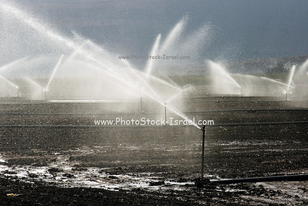 Israel, Jezreel Valley irrigation of agricultural fields , Jezreel