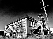 The old school in Ronald, Kittitas County, seemed to be nodding as its weathered siding caught the warmth of the afternoon sun. (Jerry Gay / The Seattle Times, 1976)