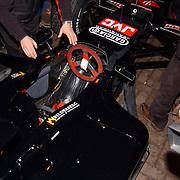 Presentatie Christian Albers wagen sponsor, F1 bolide in Amsterdam, cockpit