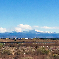 Mount Taylor was dressed in the first snow of the season Monday, as seen from Historic Route 66 near Bluewater Village.
