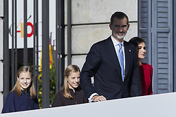 King Felipe VI of Spain, Queen Letizia of Spain, Princess Leonor of Spain and Princess Sofia of Spain attends to 40 Anniversary of Spanish Constitution at Congreso de los Diputados in Madrid, Spain. December 06, 2018. Photo by ALTERPHOTOS/A. Perez Meca/ABACAPRESS.COM