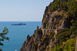 Positano, Italy, September 16 2017. The road to Positano in Southern Italy provides a stunning drive with spectacular views of the Mediterranean sea. © Paul Davey