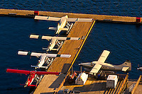 Overview of a float plane base, Ketchikan, Southeast Alaska USA