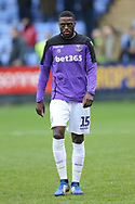 Stoke City defender Bruno Martins Indi (15) during the The FA Cup 3rd round match between Shrewsbury Town and Stoke City at Greenhous Meadow, Shrewsbury, England on 5 January 2019.