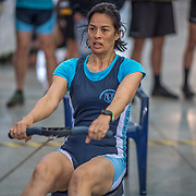 Veronique Gibbons FEMALE HEAVYWEIGHT Masters D 1K Race #8  11:00am<br /> <br /> <br /> www.rowingcelebration.com Competing on Concept 2 ergometers at the 2018 NZ Indoor Rowing Championships. Avanti Drome, Cambridge,  Saturday 24 November 2018 © Copyright photo Steve McArthur / @RowingCelebration